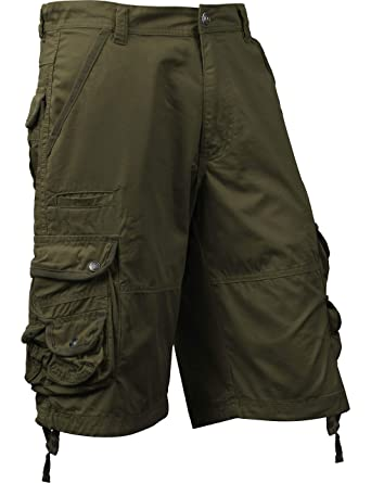 67d77beaca Ma Croix Mens Premium Cargo Shorts with Belt Outdoor Twill Cotton Loose Fit  Multi Pocket Pants