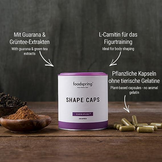 foodspring Shape Caps, 120 cápsulas, Ayudante inteligente para tu ...