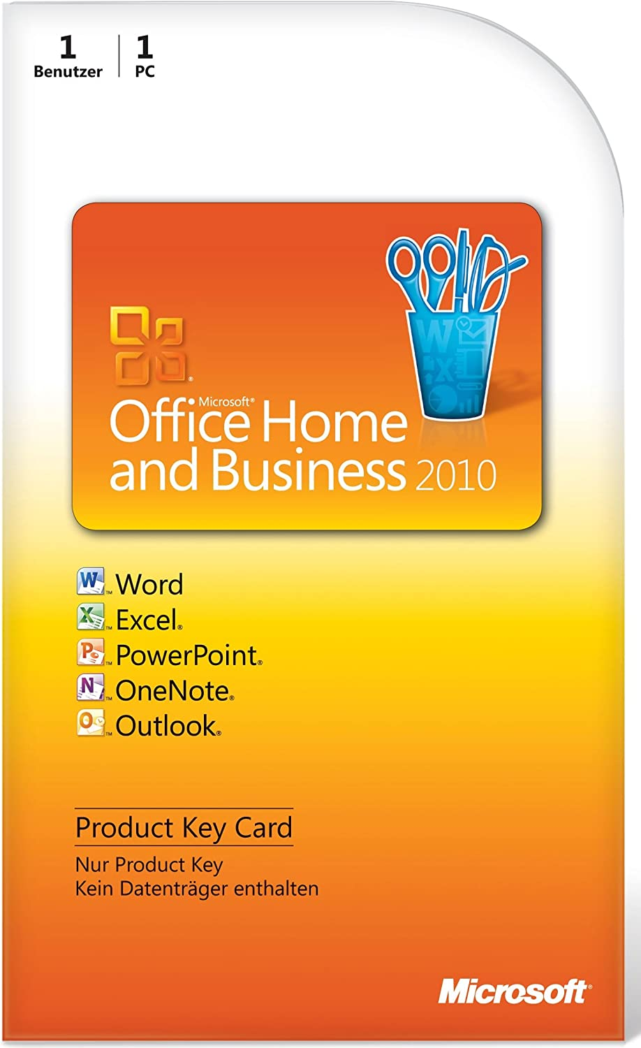 Microsoft Office Home & Business 2010 DE - Suites de programas (1 usuario(s), DEU, 3000 MB, 256 MB, 500 MHz): Amazon.es: Software