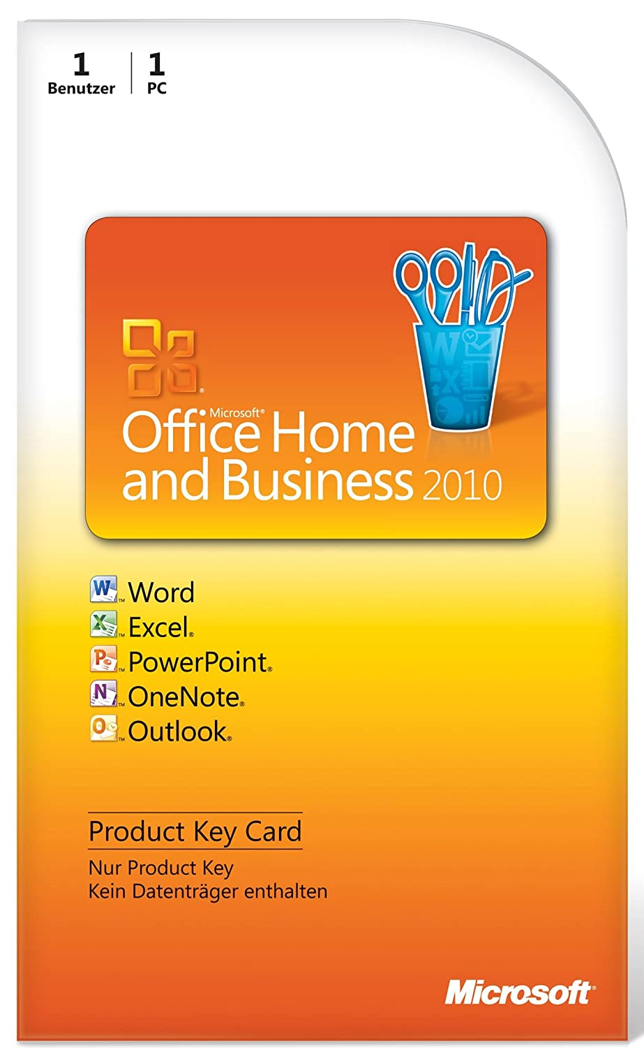 Microsoft Office Home and Business 2010 (Product Key Card): Amazon ...