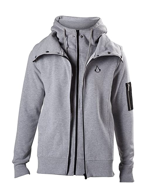Assassins Creed Double Layered Sudadera capucha con cremallera Gris/Melé L
