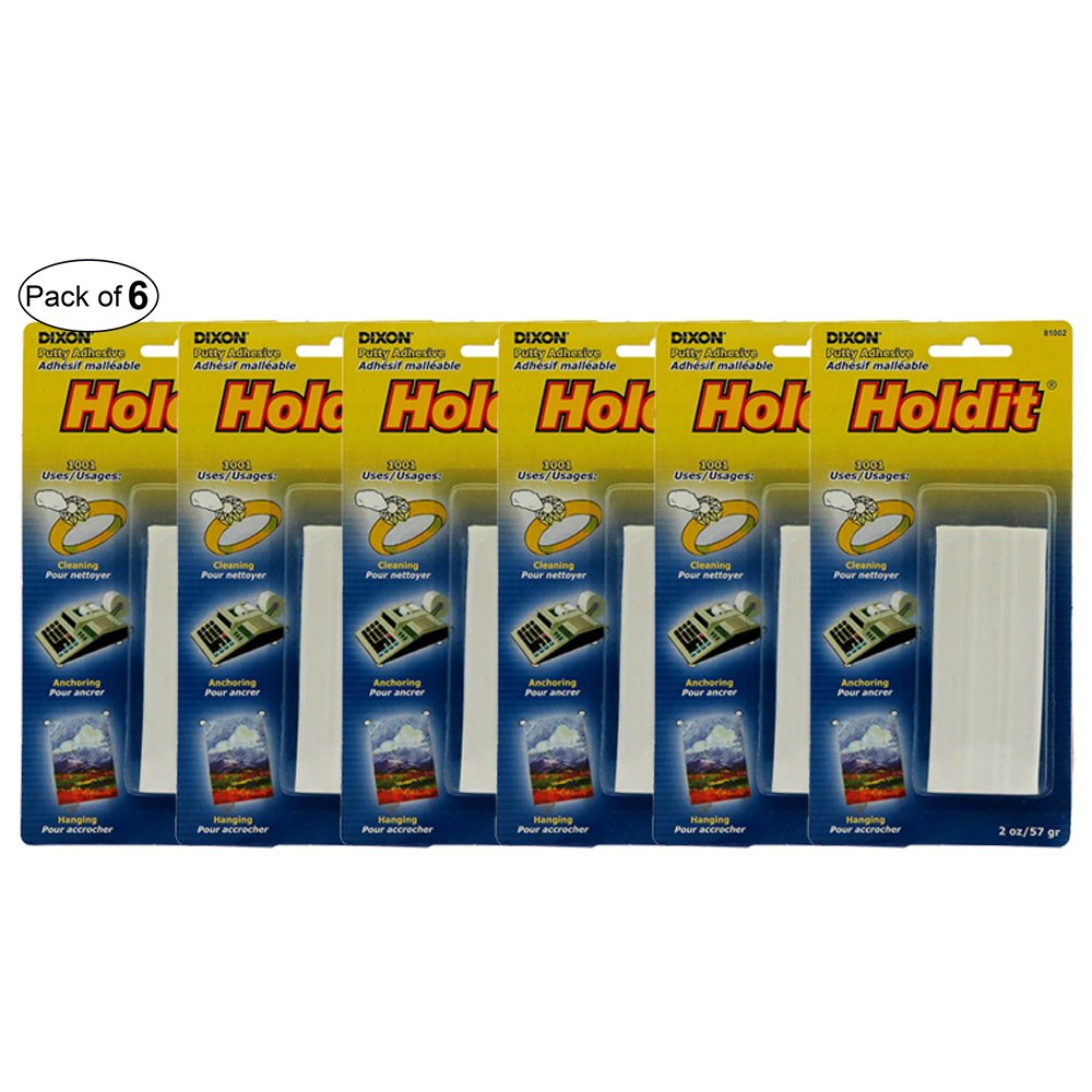 Holdit Adhesive Putty-Non-Toxic,Moisture Resistant (Pack of 6)
