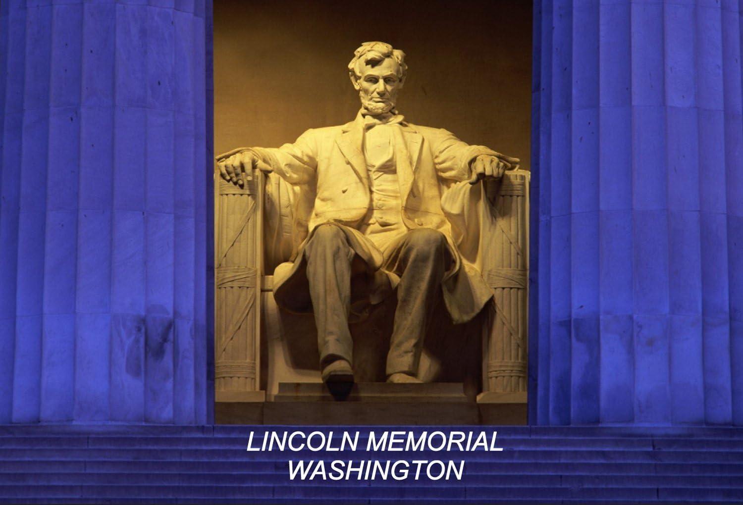DC District of Columbia USA United States Fridge Refrigerator Magnets (City: Lincoln Memorial Washington #N1)