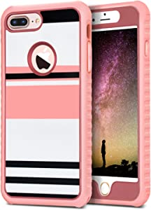 Dailylux iPhone 7 Plus Case,2 in1 PET + PC Shockproof Case Lightweight with Bling Style Flexible TPU Bumper Protective Cover for Apple iPhone 7 Plus 5.5 inch 2016 Durable Anti-Slip-Magnificent Time