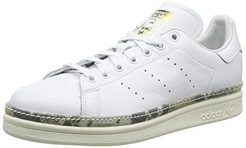 adidas Womens Stan Smith New Bold Leather White Off White Trainers 6 US