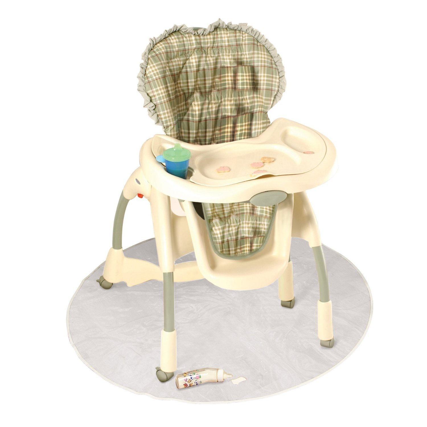 amazon com j is for jeep baby high chair floor protector clear