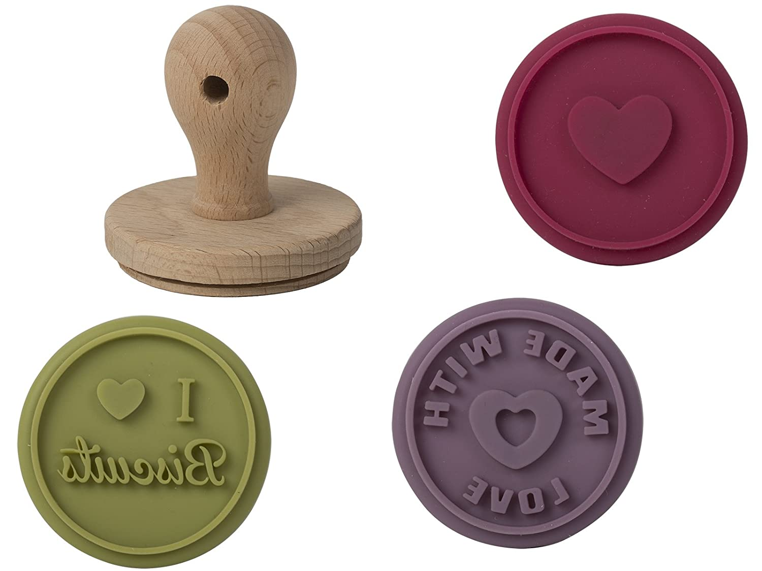 Creative Tops Katie Alice Highland Fling Silicone Biscuit Stamps, Set of 3, Multi-Colour 5118003