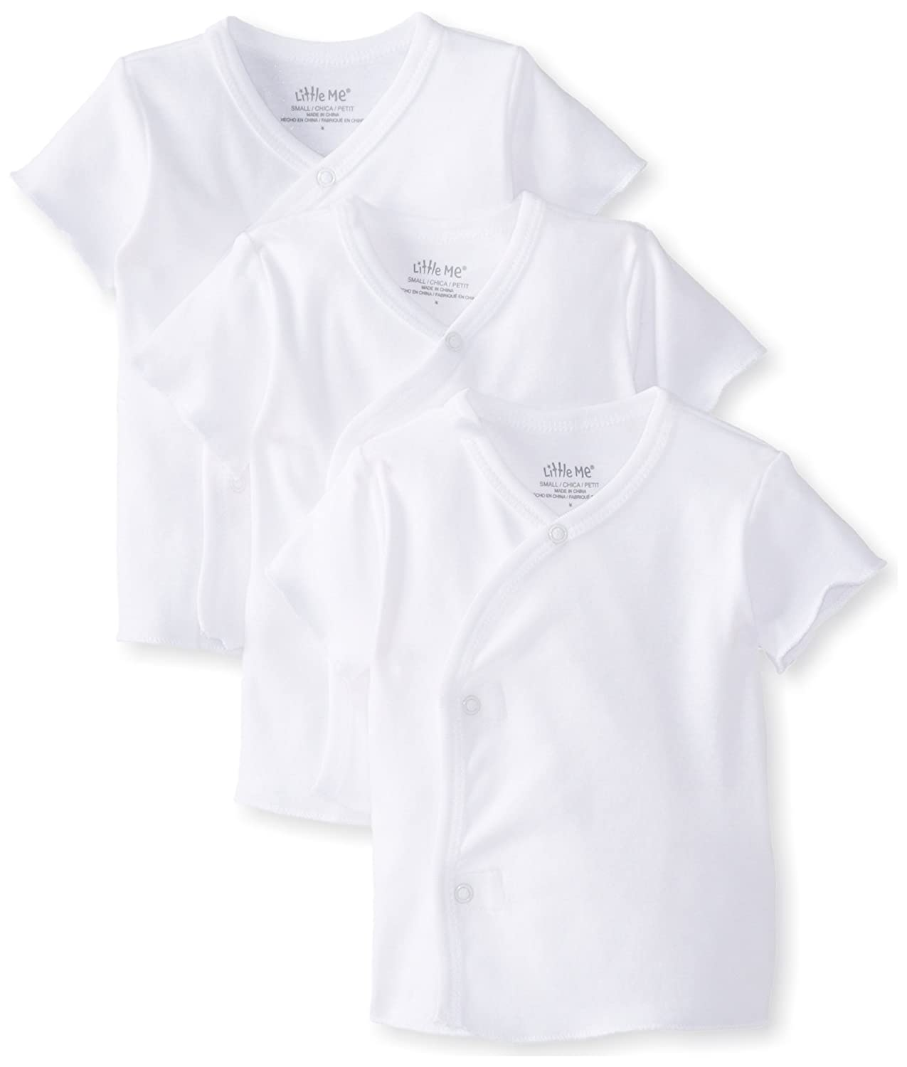 Little Me Unisex-Baby Newborn Snap Side Tee Shirt 3 Pack Little Me Baby 2075150B