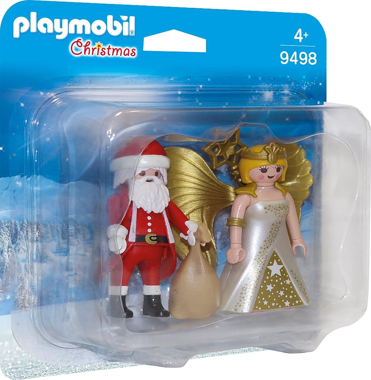 PLAYMOBIL- Duo Pack Papá Noel con Ángel Juguete, Multicolor, (geobra Brandstätter 9498)