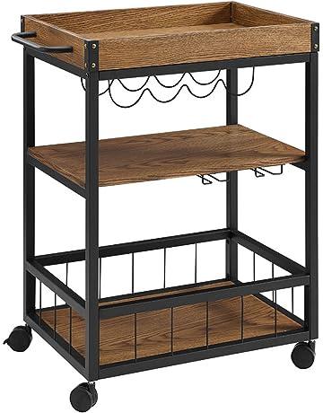 Bar & Serving Carts   Amazon.com  X Metal Kitchen Cart With Shelf on