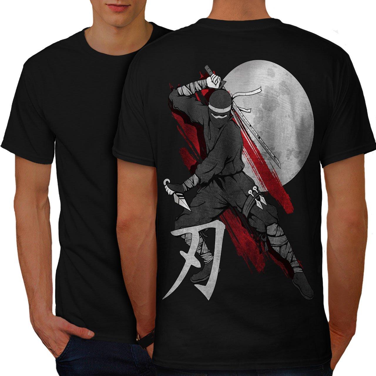 wellcoda Moon Ninja Japan Mens T-Shirt, Ninja Design Print ...