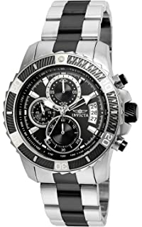Invicta Mens Pro Diver Quartz Stainless Steel Casual Watch, Color:Two Tone