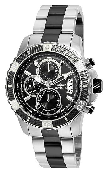 Invicta 22416 Pro Diver - Scuba Reloj para Hombre acero inoxidable Cuarzo Esfera negro: Amazon.es: Relojes