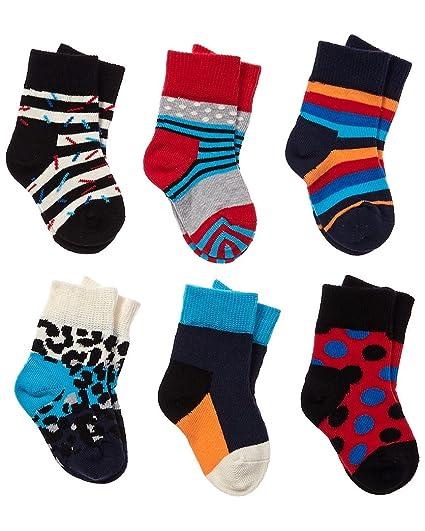 Happy Socks Stripes - Calcetines de regalo para niño (tallas de 0 a 12 meses