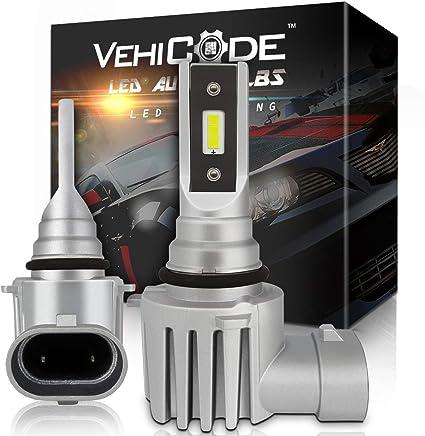 Pack of 2 AUXITO H3-LED-Fog-Light Bulbs Super Bright CSP Chips H3-LED-Bulbs for Fog Lights or Day Time Running Light 6000K Cool White
