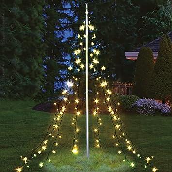 Lichterpyramide 400 Cm Hoch Mit 400 Led Warmweiss Weihnachtsdeko