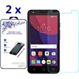 [2-Pack] Alcatel Pixi 4 5.0 Inch Screen Protector, Nacodex [Tempered Glass] 0.26mm Ballistic 9H Glass ([2 Pack] For Alcatel Pixi 4 5.0 Inch)