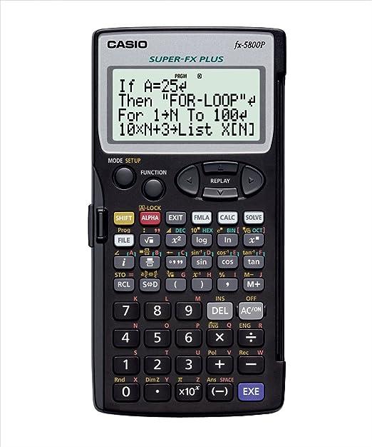 17 opinioni per CASIO FX-5800P calcolatrice scientifica programmabile- Contiene 40 costanti