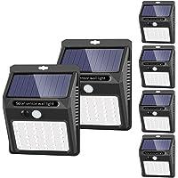 [42 LED / 3 Modos ] SEZAC Luces solares Luces con sensor de movimiento solar para exteriores, Luces de seguridad…