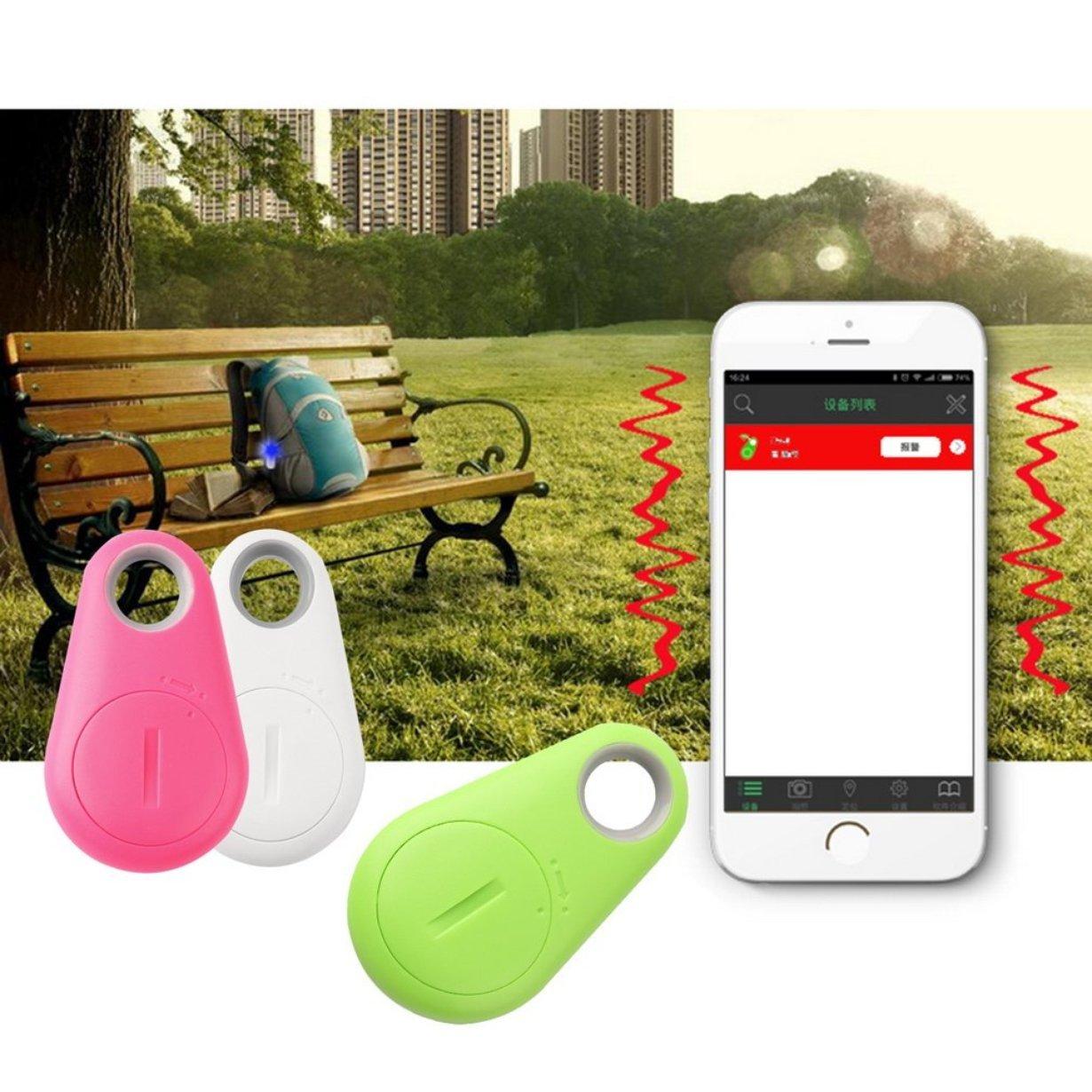 camellia Mini Fashion 4.0 Verfolger-Verzeichnis Tag Alarm Walle Key Hund Tracker Anti-verlorene Tasche Gr/ö/ße Smart-Tracker pink