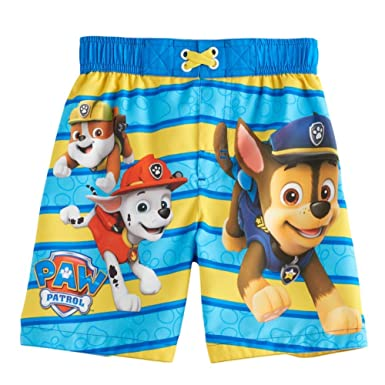 fa6a7e4432 Amazon.com: Nickelodeon Boys' Paw Patrol Toddler Swim Trunk: Clothing