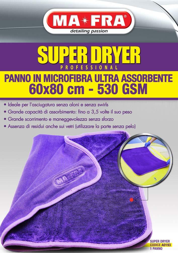 Ma-Fra MAFRA Panno Super Dryer in Microfibra Ultra Assorbente 60x80 cm