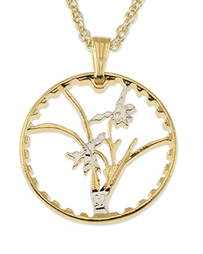 Amazon orchid pendant necklace taiwan coin hand cut jewelry orchid pendant necklace taiwan coin hand cut aloadofball Choice Image