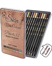 Dark Skin Tone Color Pencils   Portrait Set   Colored Pencil for Adults   Skintone Artist Pencils