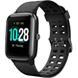 Muzili Smart Watch 1.3'' Large Color Full Touch Screen IP68 Waterproof Fitness Tracker Heart Rate Monitor Sleep Monitor Pedometer 8 Sports Modes 10 Days Running Time Smartwatch Wrist Fitness Band for Boys Men Women