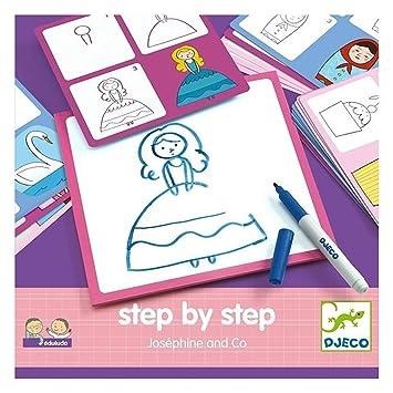 Djeco Malspiel Step by step Josephine and Co: Amazon.de: Sport ...