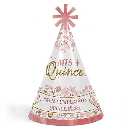 Amazon.com: Mis Quince Anos - Cone Happy Birthday Party Hats ...