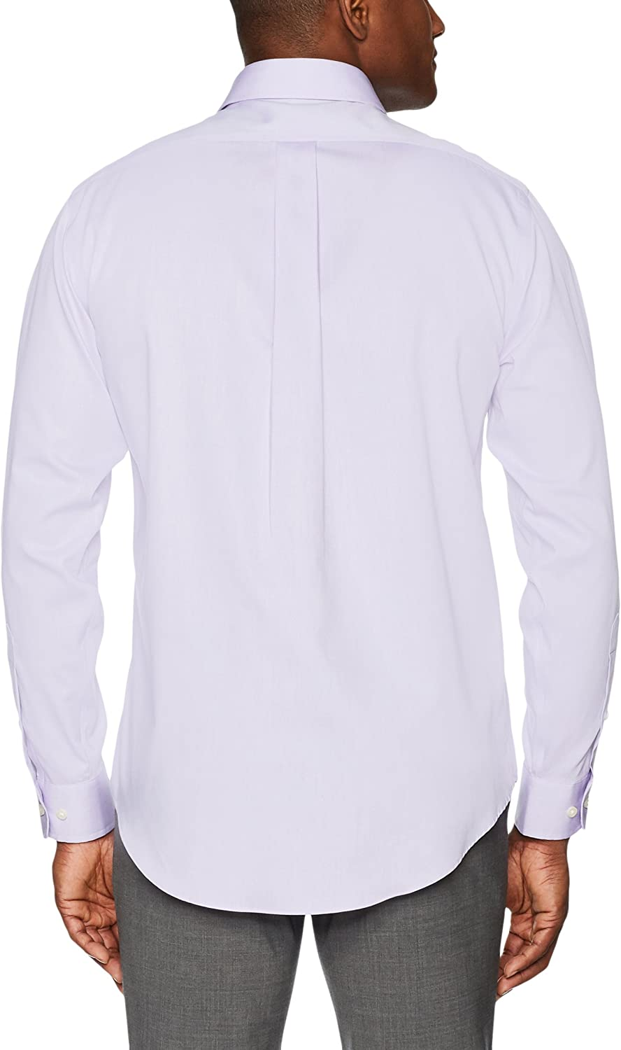 Supima Cotton Non-Iron Brand BUTTONED DOWN Mens Classic Fit Spread-Collar Solid Pinpoint Dress Shirt