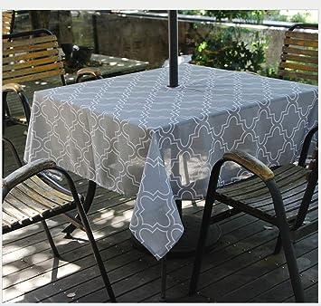 Runde Und Rechteckige Gartenterrasse Im Freien Tischdecke Mit