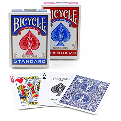 Bicycle Poker Size Standard Index Playing Cards (RED & Blue, 9 Decks): Sports & Outdoors [5Bkhe0805250]