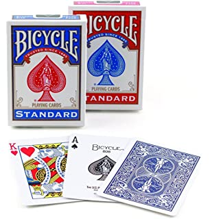 Amazon.com: Bicycle Poker Size Standard Index Playing Cards ...