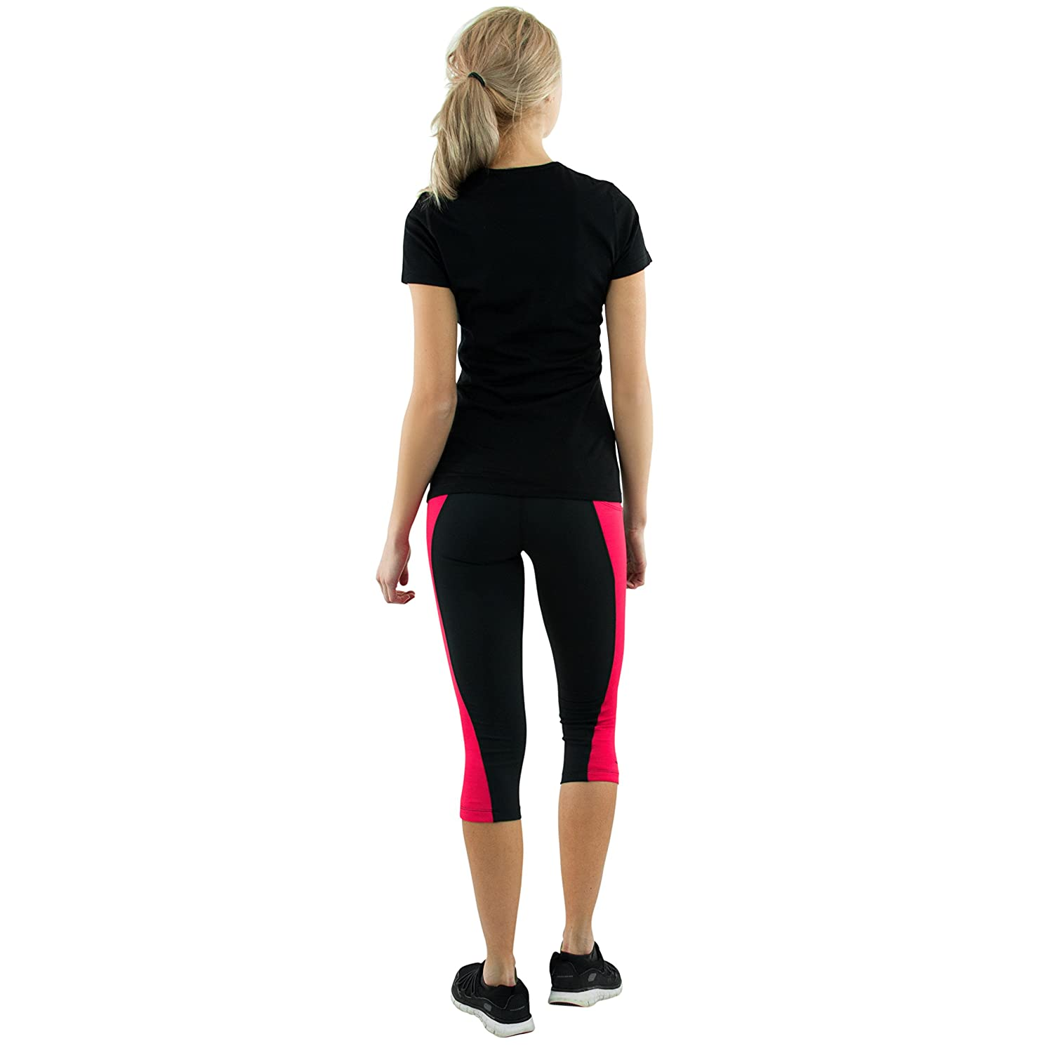 Compression Women/'s Workout Capris Lightweight Fearless Capri Pants by Woolx