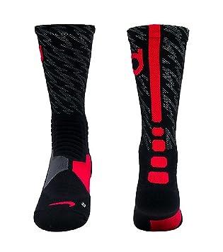 Nike Hyper Elite Crew Calcetines de Baloncesto, Unisex, Calcetines de la tripulación Hyperelite Baloncesto, 16, Niños, Color Negro/Gris, tamaño Small: ...