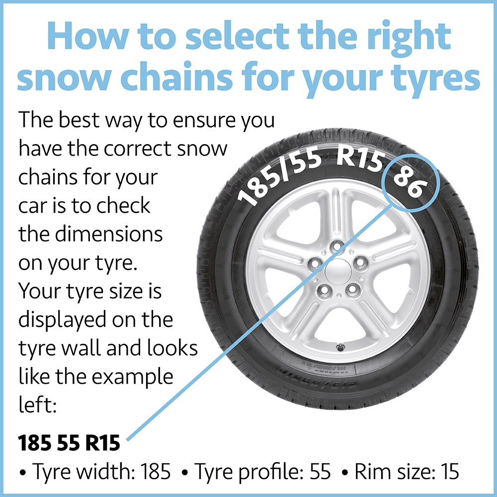 Rim Size 13-17 Inch Wheels SUV /& Van Tyre Width 145-240mm To Fit Car Model E Auto Tecnik Pair of Corrosion Resistant Car Tyre KNS Snow Chains Anti Skid Easy to Fit Winter Grip 20Mn2 Steel