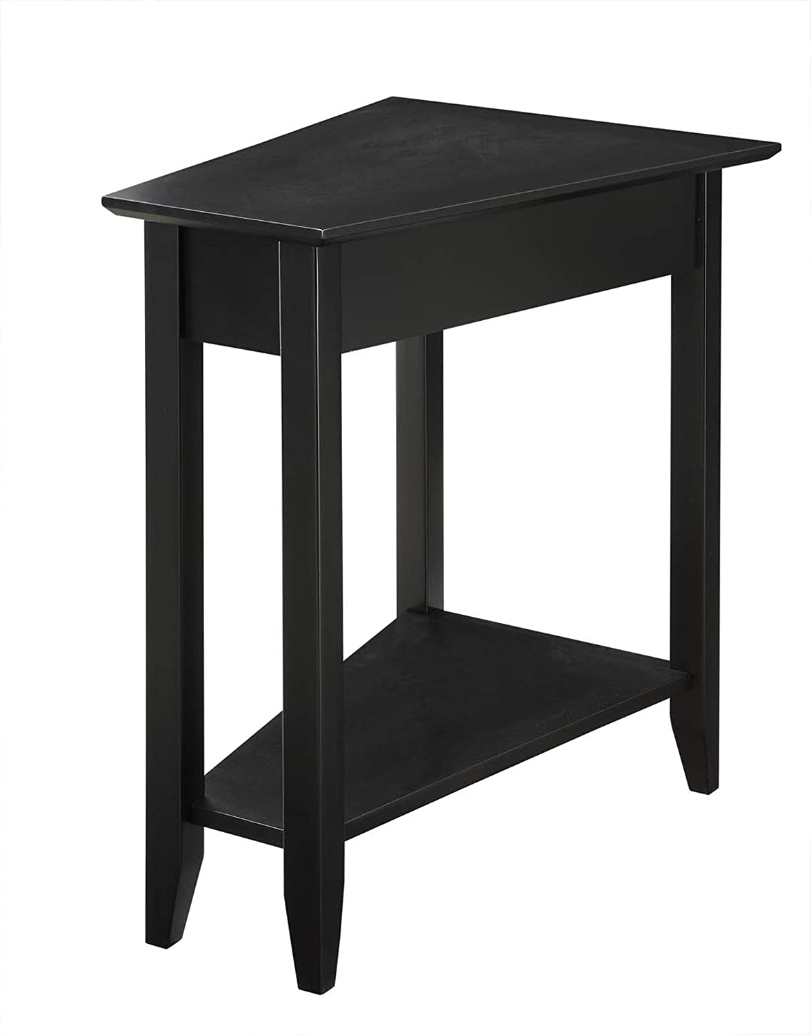 amazoncom convenience concepts american heritage modern wedge end tableblack kitchen  dining. amazoncom convenience concepts american heritage modern wedge