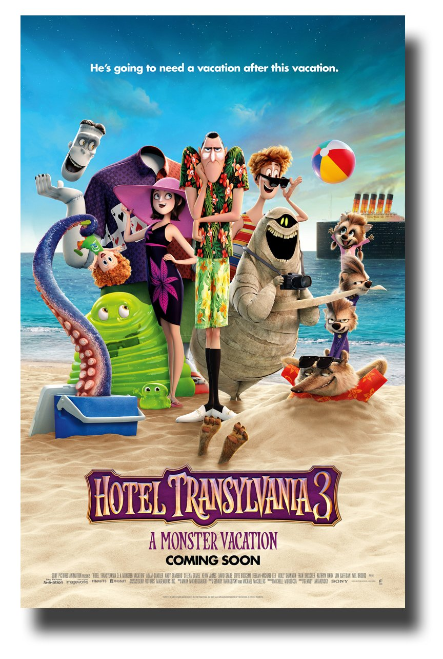 Hotel Transylvania 3 Poster Movie Promo 11 x 17 inches Beach