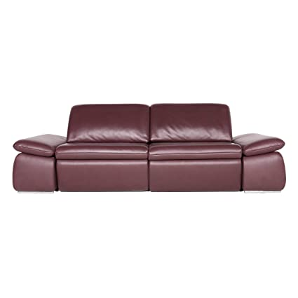 Sensational Amazon Com Koinor Evento Designer Leather Sofa Red Wine Red Gamerscity Chair Design For Home Gamerscityorg