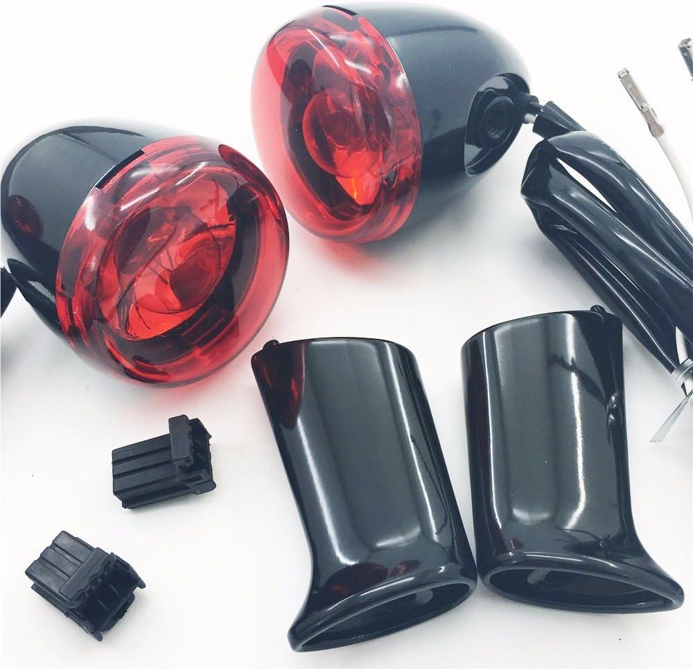 Objectif noir brillant rouge harley XL883 Clignotant arri/ère avec support pour Harley Sportster XL1200 /à partir de 92