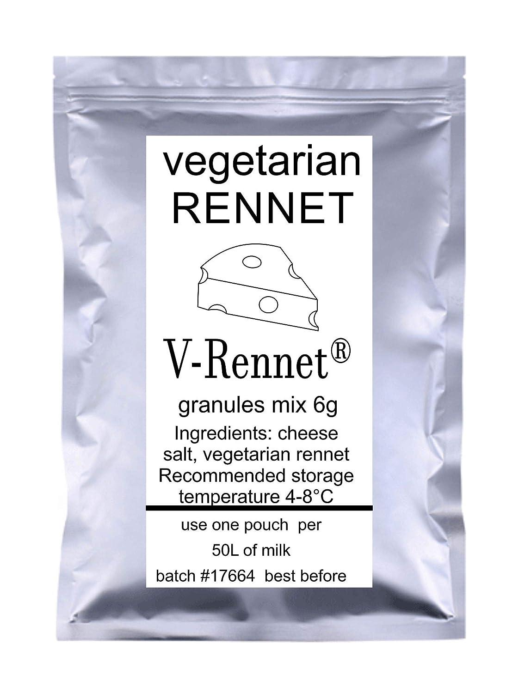Compra 5 x v-rennet gránulos 6 g Funda vegetariana cuajo y ...