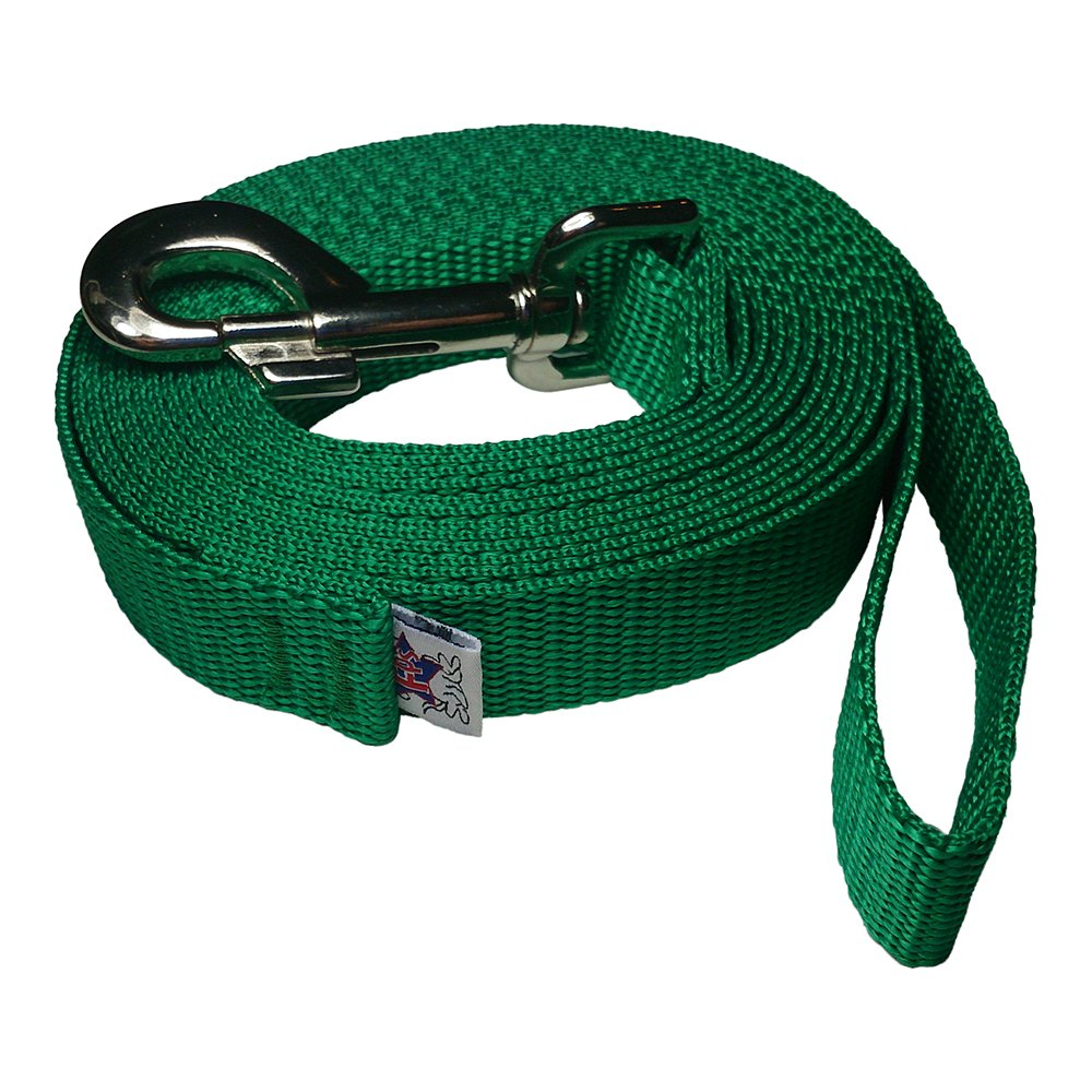 Shamrock Green 100 Shamrock Green 100 VB Collection Freedom Pet Supply Heavy Duty 1  Polypropylene Dog Leash (Shamrock Green, 100)
