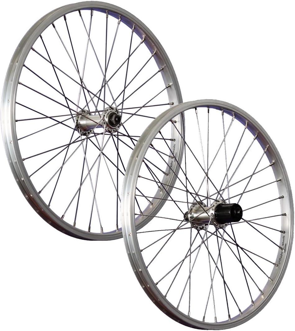 Taylor-Wheels 20 Zoll Laufradsatz B/üchel Alufelge Shimano TX500 7-8 Fach