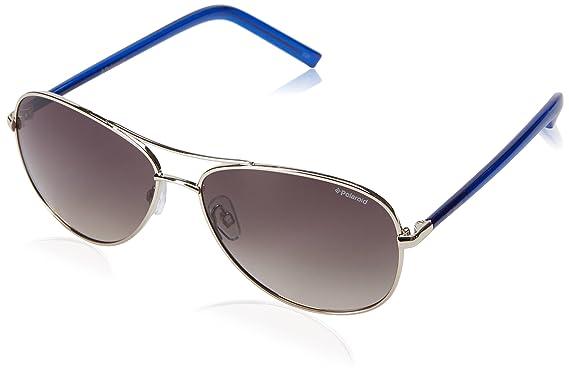 be116b0f10 Polaroid Sunglasses Pld4027s Aviator Sunglasses Light Gold Blue Brown  Gradient 58 mm