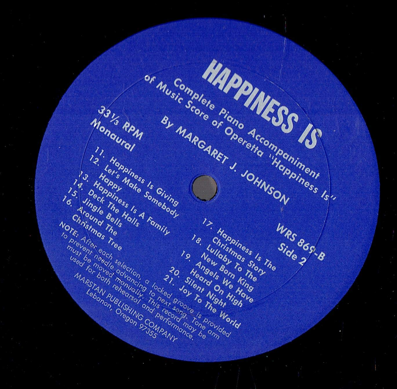 Happiness Is Special Campaign -- Christmas Operetta LP print Record Vinyl Popular brand with