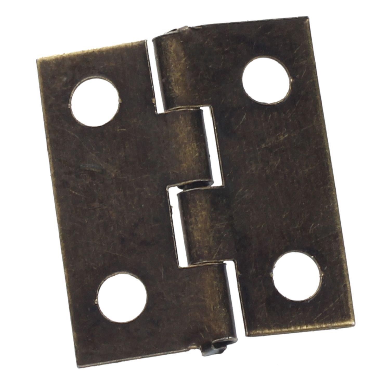Mini bisagras - SODIAL(R) 10 piezas mini bisagras de cajon trasero de bronce