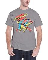 Officially Licensed Merchandise Marvel Comics Retro Spider-Man T-Shirt (H.Grey)