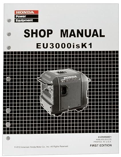 honda eu3000 eu3000is k1 generator service repair shop manual rh amazon in honda eu3000is service manual pdf honda inverter eu3000is manual